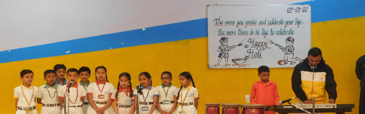 SPECIAL ASSEMBLY ON HOLI